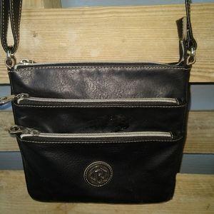 Black relic leather small purse